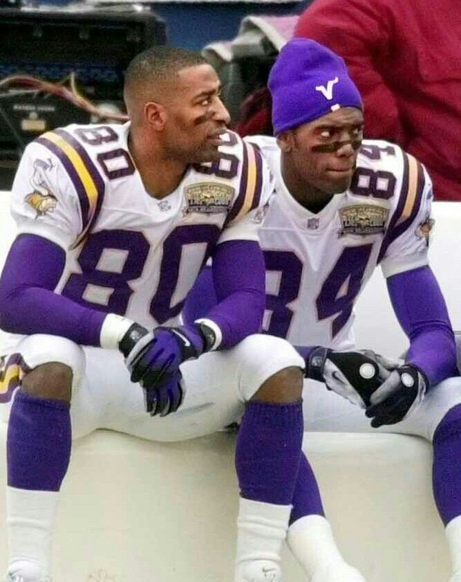 Cris Carter and Randy Moss