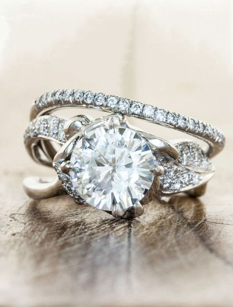 Organic Unique Engagement Rings by Ken & Dana Design - Sundara 2 ct Bella pairing