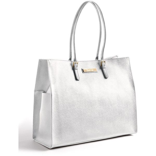 Calvin Klein Leather Tote Bag ($248) ❤ liked on Polyvore featuring bags, handbags, tote bags, handbags totes, leather tote, leather handbags, leather purse and calvin klein tote