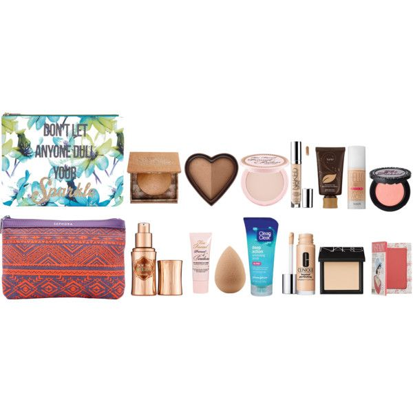 face makeup  by thatprepsterlibby on Polyvore featuring Benefit, Clinique, Too Faced Cosmetics, Urban Decay, NARS Cosmetics, TheBalm, tarte, beautyblender, Clean & Clear and Sephora Collection