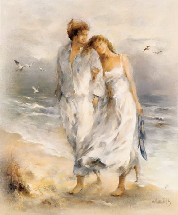 "Art Willem Haenraets ~ ~ <3 ""Our memories of the ocean linger on  long after our footprints in the sand are gone"""