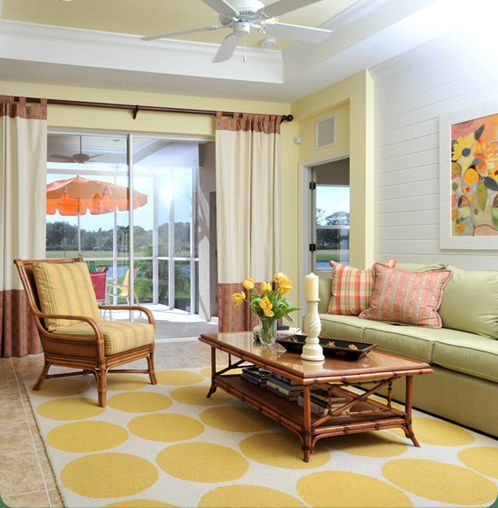 Green yellow living room living rooms to relax in pinterest