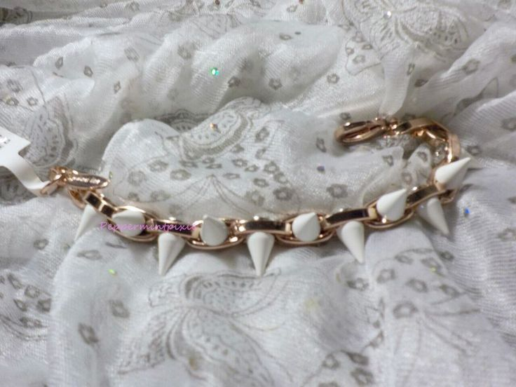 Joomi Lim  Rose Gold Double Row Spike Chain Bracelet Urban New/tag SALE was 165  #JoomiLim #Chain