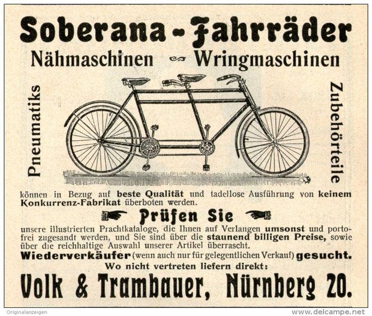 Original-Werbung/Inserat/ Anzeige 1905 : SOBERANA FAHRRÄDER - ca. 70 X 90 mm