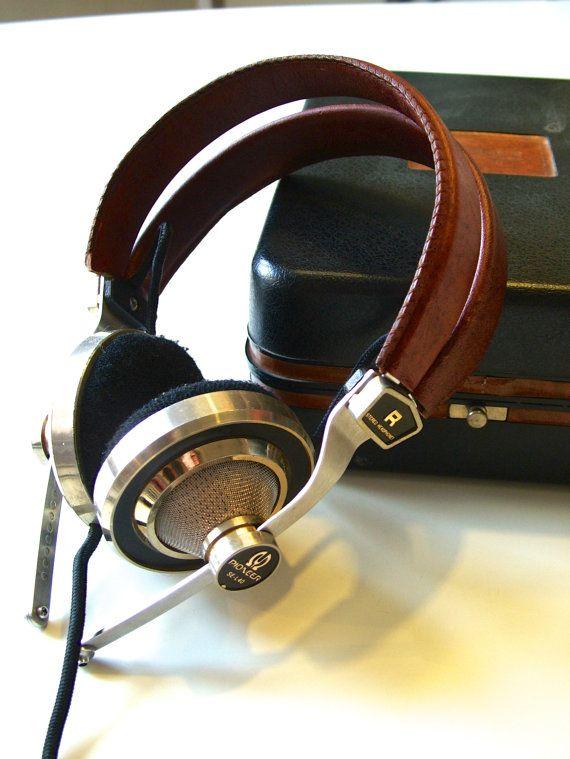 vintage PIONEER SEL40 stereo HIFI headphones in by MarthesVintage, $125.00