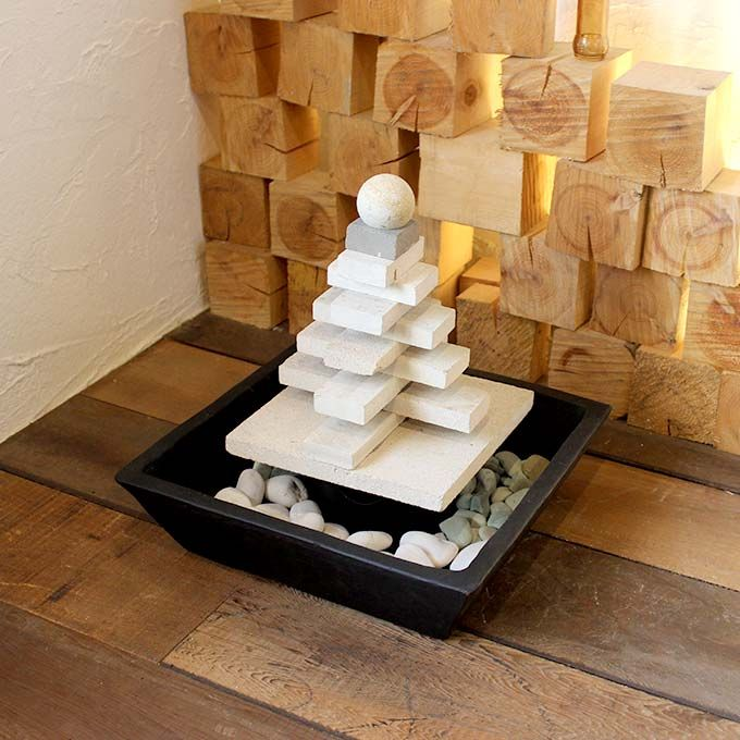 噴水 石の噴水 流水 バリ島 オーナメント ディスプレイ インテリア サロン装飾