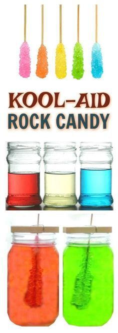 Grow your own rock candy using Kool-aid! A fun, colorful and easy science activity for kids!