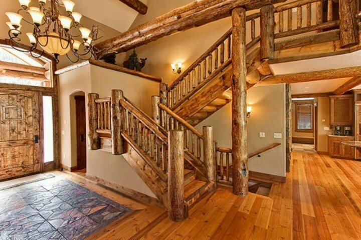 54 best timber home living magazine images on pinterest for Modern log home interiors