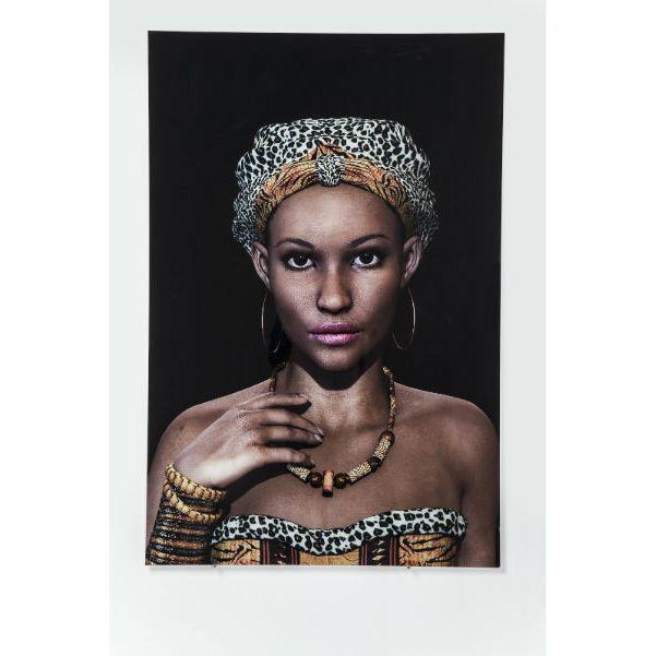 Πίνακας Glass African Queen Face