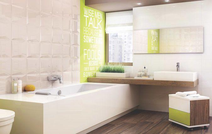 Płytki łazienkowe o głębokim połysku dostępne w wielu wariantach kolorystycznych beżowy, biały oraz czarnym - http://www.paradyz.com/plytki/lazienkowe/maloli