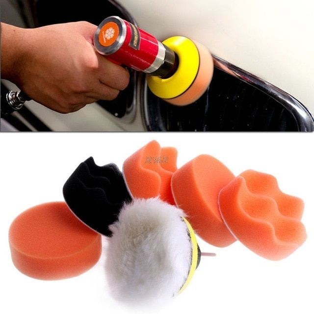 2/'/' Felt Polishing Pad with M14Drill Adapter Scratch Remover Glass Polishing Set