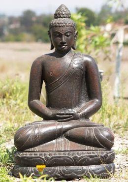 "Stone Garden Meditating Buddha Statue 25"""