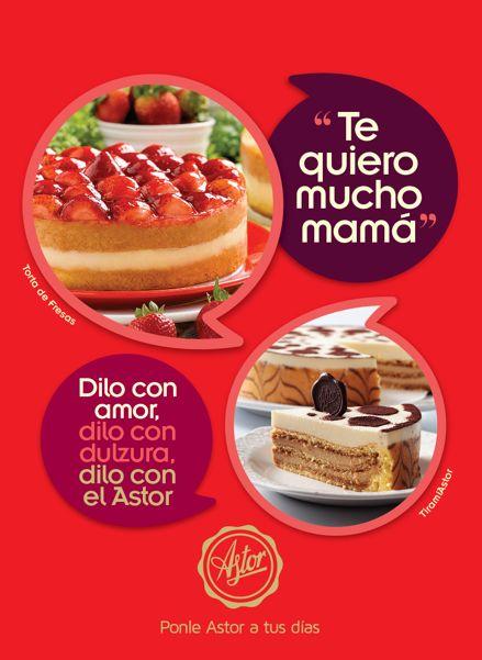 """""""Te Quiero Mucho Mamá"""" ... Dilo con Amor, dilo con dulzura, dilo con la #reposteriaastor  www.elastor.com.co"""