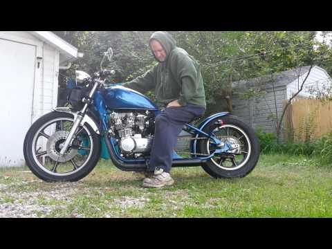 ▶ 1983 kawasaki kz550 chopper.. walk around and start-up. - YouTube. Sweet bike, think my '82 550 would look nice with similar re-build.