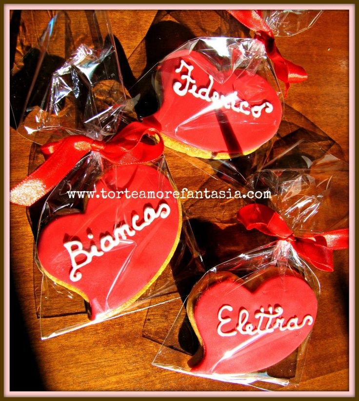 Cookies Love Biscotto segnaposto www.torteamorefantasia.com