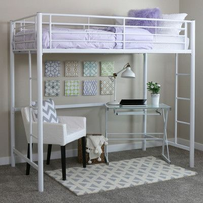 Home Loft Concepts Metal Twin Loft Bed & Reviews   Wayfair