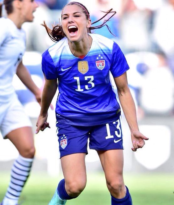 Alex after scoring the goal against France during the She Believes Cup.