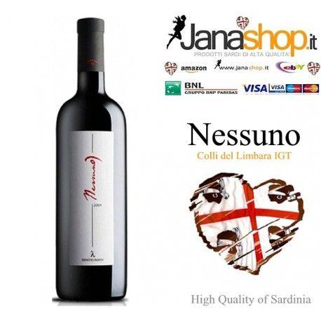 #NESSUNO #WINE #RedWine #HillsofLimbara #IGT #SardinianProducts #Vinitaly2017 #WineWednesday #onlineshopping #MadeInItaly @janashop.it @janashoponline  Buy Now and and receive 20% discount on next Janashop Italia - Online Sardinian Products - Retail and wholesale
