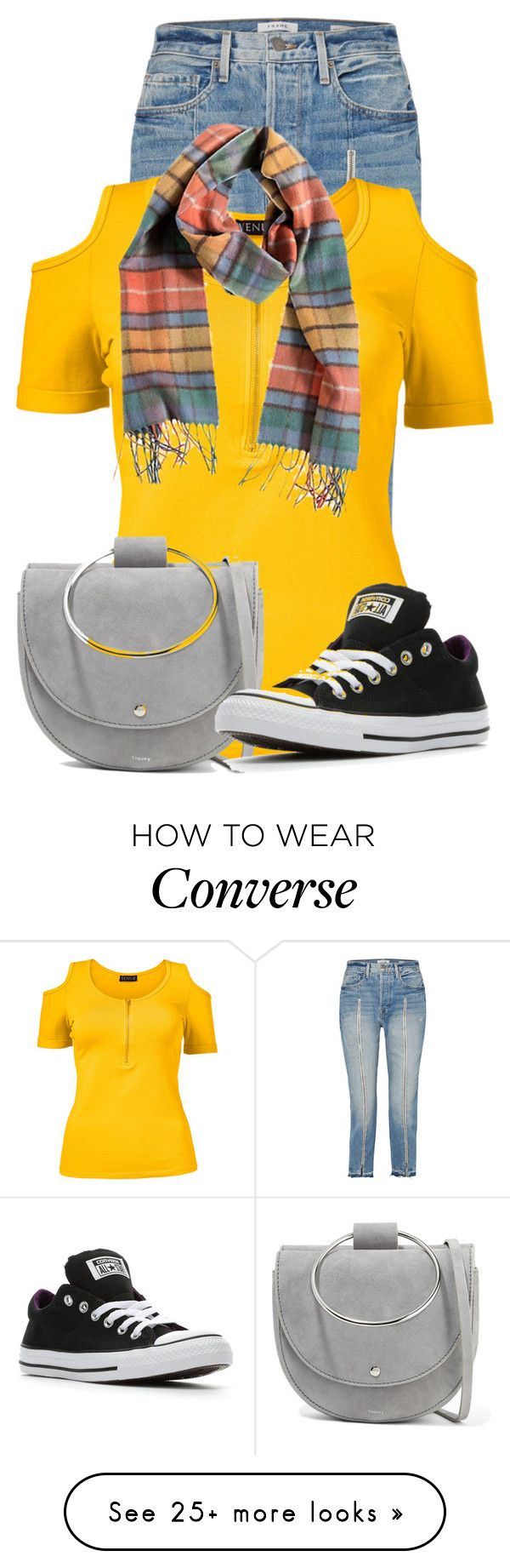 """Untitled #24455"" by nanette-253 on Polyvore featuring Frame, Venus, Overland Sheepskin Co., Theory, Converse and plus size clothing"