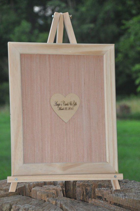 18x20 Custom Shadow Box Frame And Heart Guest Book Wedding