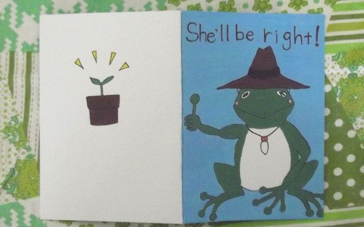 She�ll Be Right Frog Greeting Card