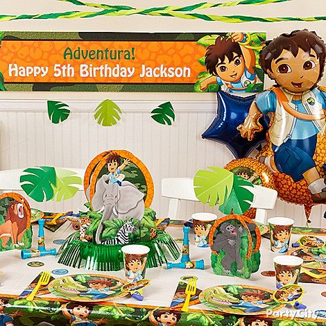 Go, Diego, Go! Party Ideas: Decorating - Click to View Larger