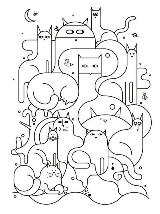Cute line illustration design