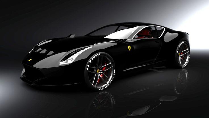 Ferrari 612 GTO Black. Want.