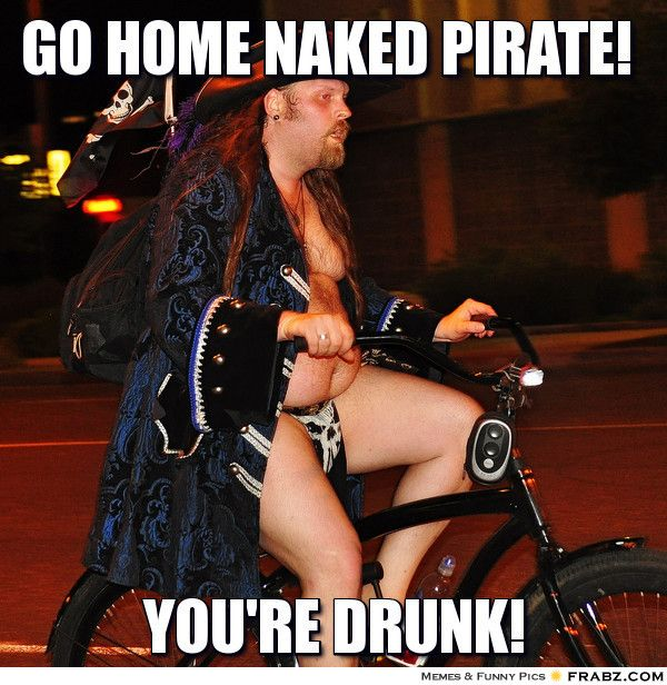 Funny Naked Pirate