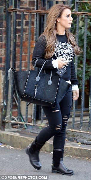 Coleen Rooney goes grunge glam as she leaves photoshoot in Bentley GT #dailymail