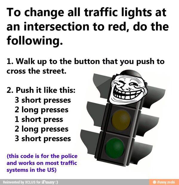 Life hacks #provestra...knowing me, I'd probably forget the sequence and just look like a nut-ball feverishly pressing the button, not make it back to my car in time for the green light that happened to just turn on its own. I should prob just stay IN my car!