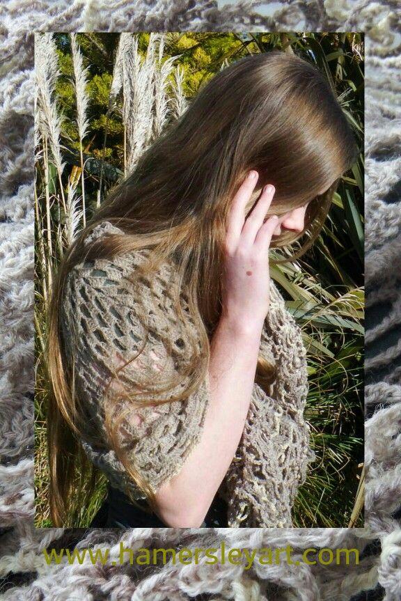 #Retro #Style #Crochet gypsy #shawl by www.hamersleyart.com #Needlework