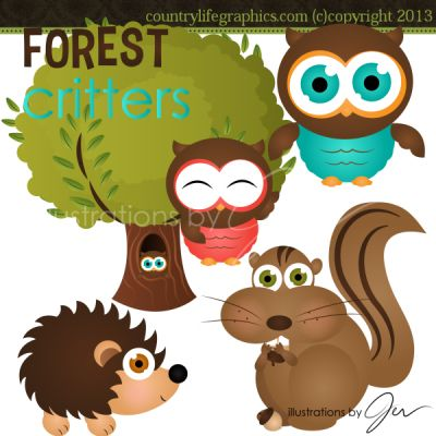 Forest Critters Clipart
