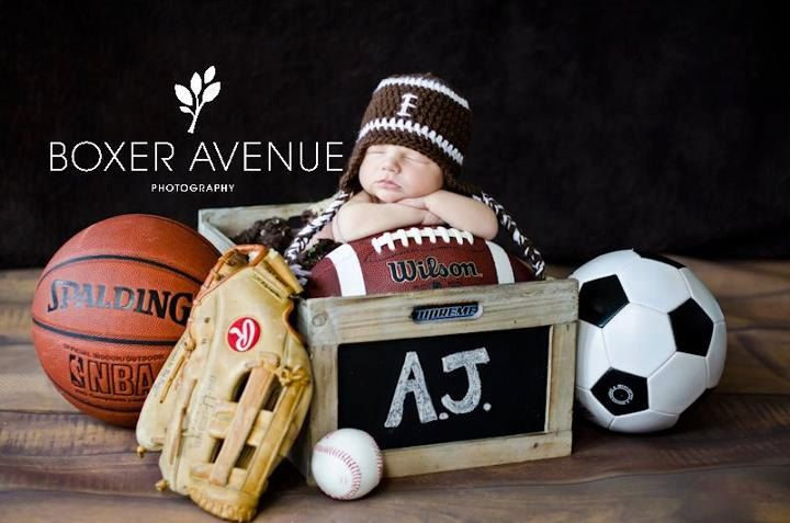 Crochet Football earflap hat Photography Prop by busymommyof5
