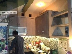 kabinet atas kitchen set minimalis