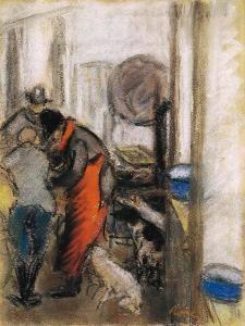 Flox and Filox in the Kitchen - József Rippl-Rónai - The Athenaeum