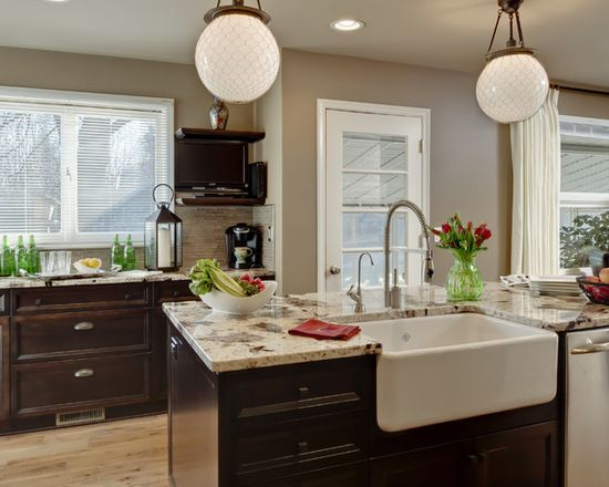 dark cabinets light floors