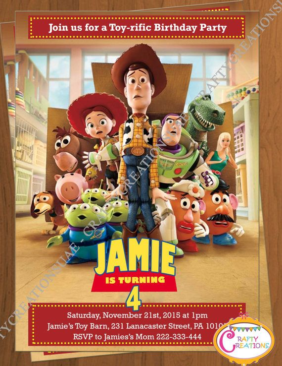 the 25+ best toy story invitations ideas on pinterest | toy story, Party invitations