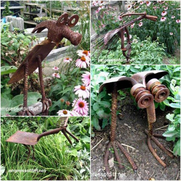 Wonderful Rusty Garden Art Ideas Rusty Garden Rusty