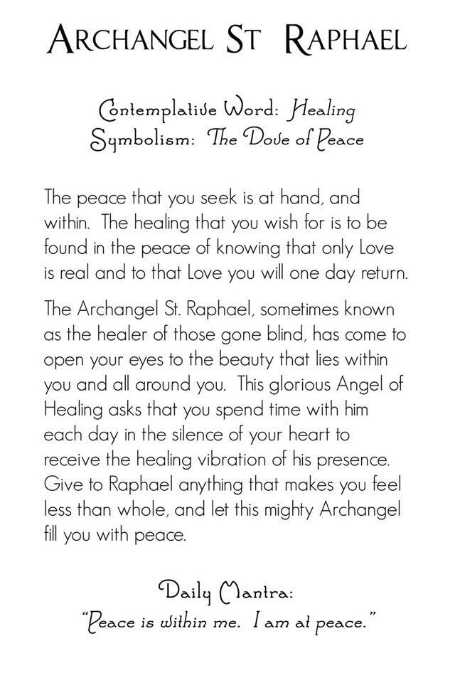 Archangel Raphael | back | Mystic Angels Oracle 27