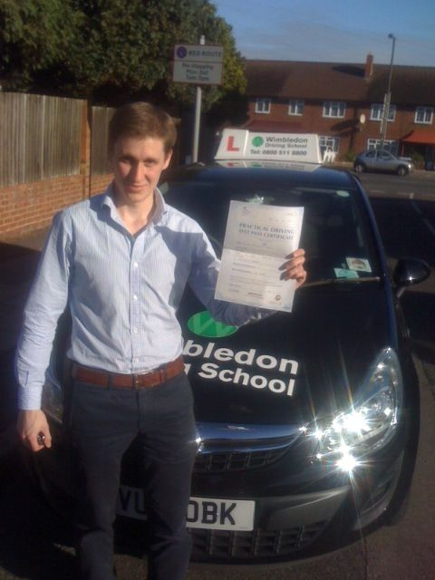 Well done to Matthew Lies who passed his driving test at Morden Driving Test Centre on Tuesday 29th October.