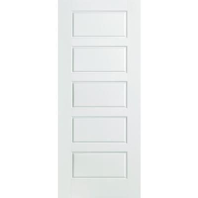 Masonite - Porte intérieure apprêtée 5 panneaux égaux 28 pouces x 80 pouces - 28RIVERSIDEDOOR - Home Depot Canada