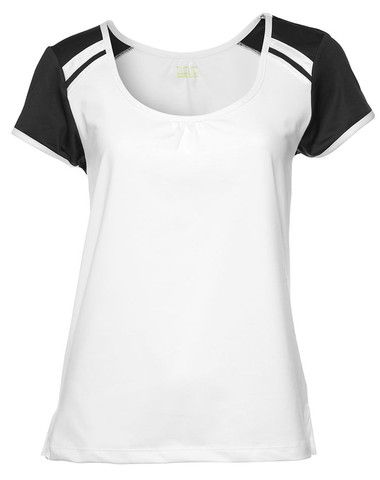 Pure Lime Tennis Women's Sorbet Tee - White/Black