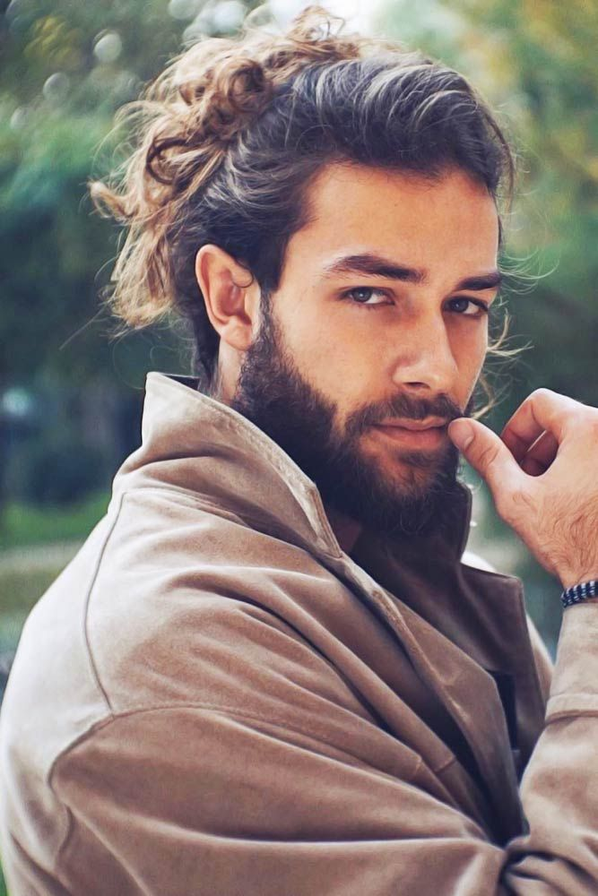 How To Get Style And Sport The On Trend Man Bun Hairstyle Man Bun Hairstyles Haircuts For Men Long Hair Styles