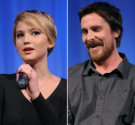 "Jennifer Lawrence Wanted Kiss ""Batman"" Christian Bale American Hustle - Us Weekly"