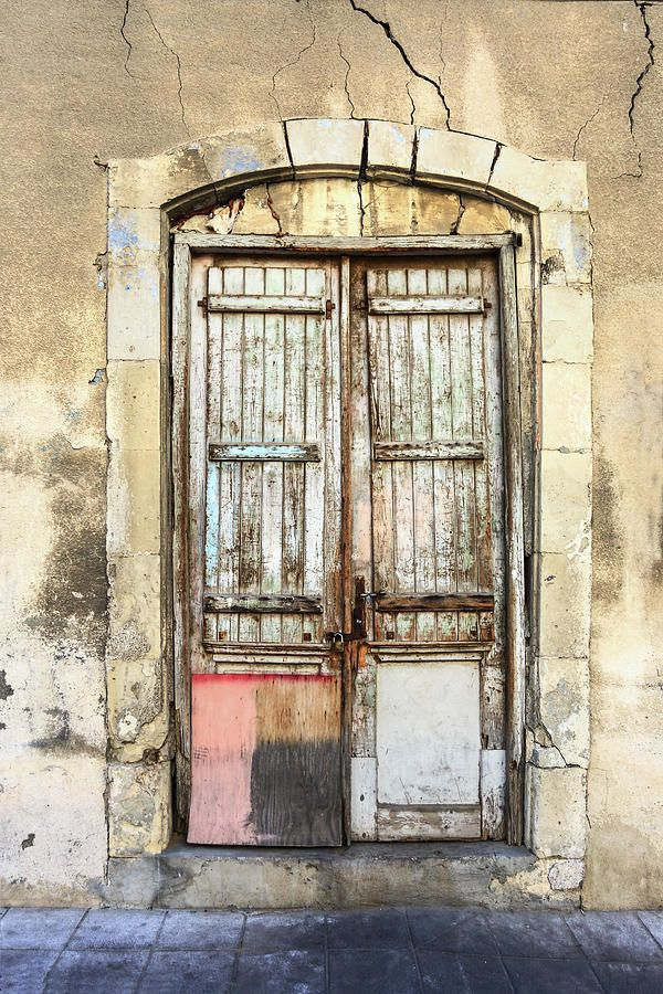 George Westermak Photograph - Ancient Wooden Door In Old Town. Limassol. Cyprus by George Westermak#GeorgeWestermakFineArtPhotography #ArtForHome #FineArtPrints #travel #architecture #details