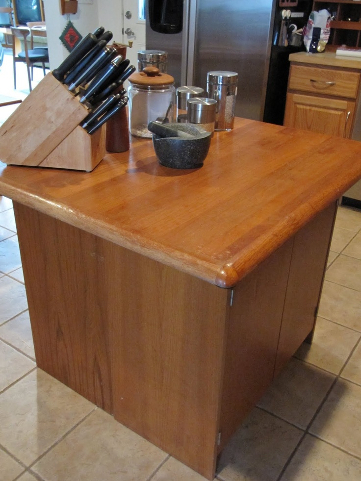 Sew Many Ways...: Colleen's Corner...Make A Quick Kitchen Island  http://sewmanyways.blogspot.com/2011/02/colleens-cornermake-quick-kitchen.html#