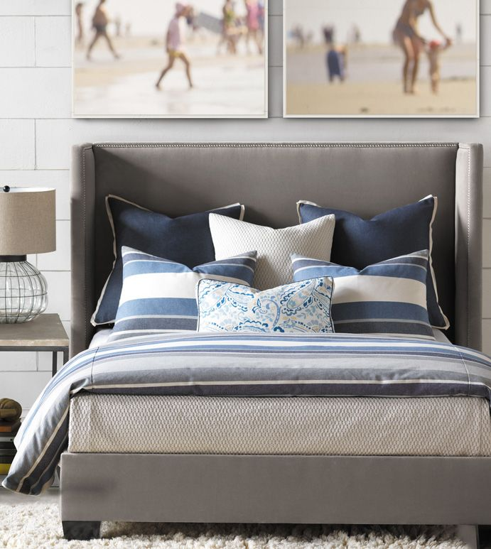 Eastern Accents Bertrand Denim Duvet Cover Luxury Bedding Collections Bed Linens Luxury Bedding Sets