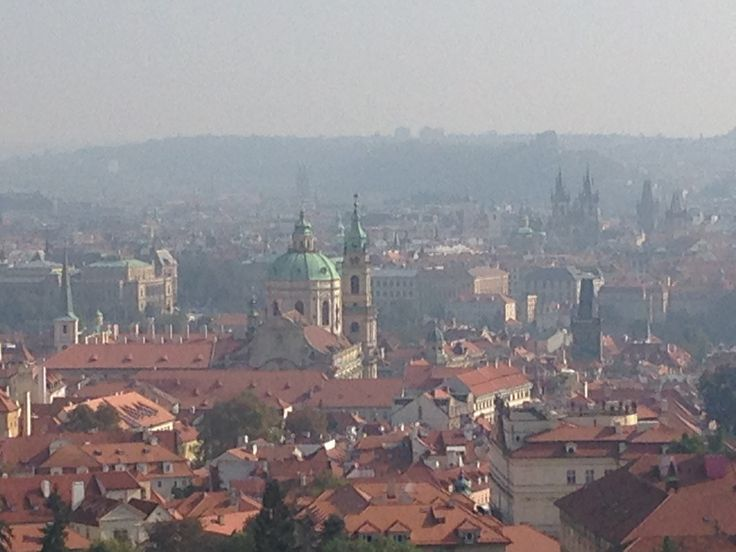 Just few steps from the Strahov Monastery and this is what awaits you - Prague panorama at its best with St. Nicholas church at Malostranske square