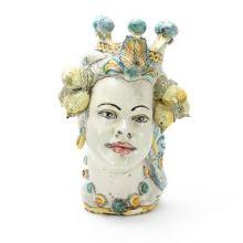 Testa in ceramica di moro